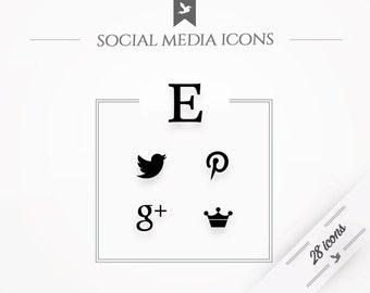 "Social media icons ""Minimal"" - black"