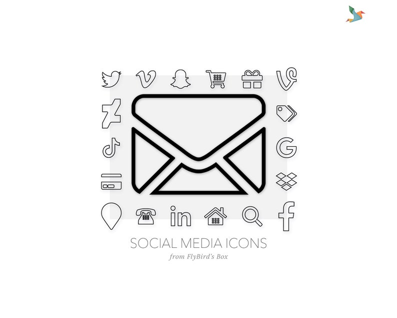 Social media icons Zen  simple minimal web image 0