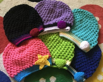 We Are The Crystal Gems!! Steven Universe Inspired Slouchy and Beanie Hats