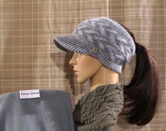 506fcf5c Ponytail Hat: Fleece Lined Style Open-Top Design - Available in Solid and  Mixed Colors