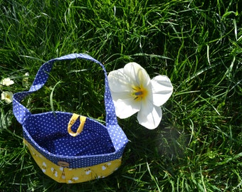 Little girl's handbag - cute yellow bee child's bag with a button fastening
