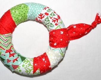 Funky fabric Christmas Wreath