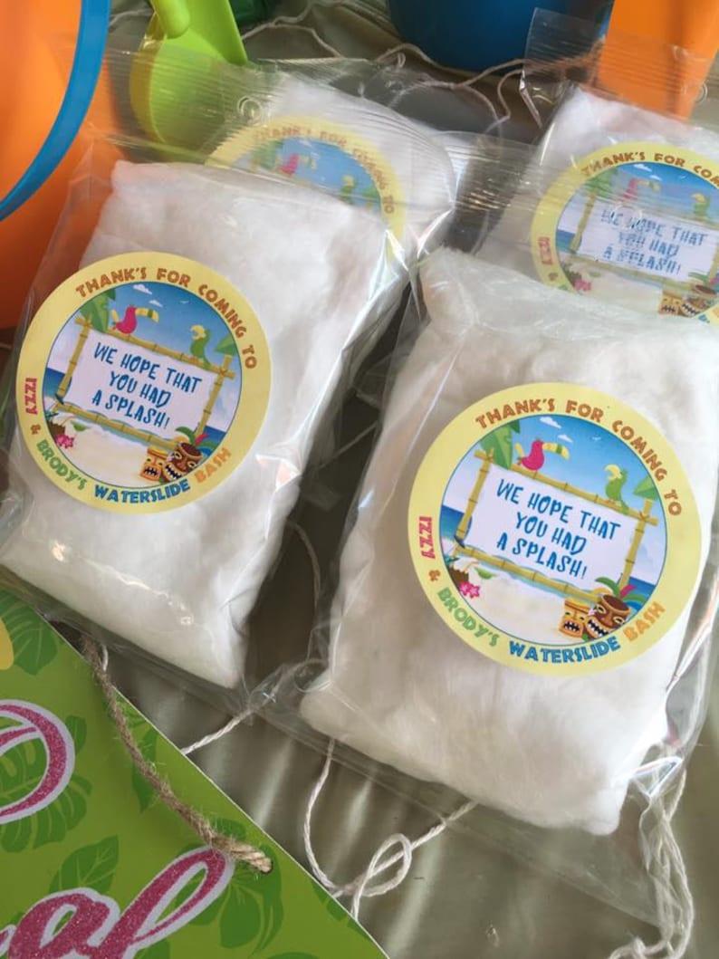 75 Custom Label Design Prepackaged Cotton Candy Favors