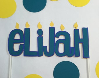 Personalized Cake Toppercustom Birthday Topperhappy Decorationsname Topperbirthday Candlespersonalized Name Topper
