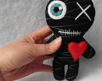 The Little Black Mummy, Voodoo Doll, Witch, Wicca, Valentine, Gothic, Occult, Esoteric, Freak, Gift, Witchcraft, Wedding, Evil, Monster