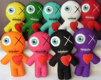 Fetish Voodoo Doll Healing Chromotherapy, Witchcraft, Magic, Gothic, Occult, Vodun, Gri-gri, Hugs, worries, Chakra, Art Doll, Valentine