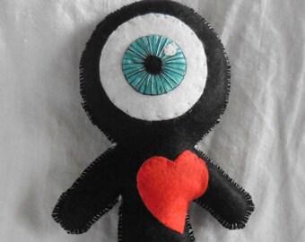 The Black Cyclops in Love - Voodoo, Doll, Freak, Circus, Eyeball, Valentine, Oddities, Heart, Love, Curiosities, Mummy, Wedding