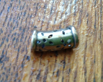 Sterling silver tube Bead