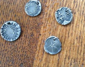 Fine Silver Botanical Charms