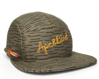 99aa2264775 5 Panel Handmade Pencil Hat Camp Cap Carpenter hat Baseball Cap Snapback  Trucker Hat Five panel hat Gifts under 50 Baseball Hat 5panel Cap
