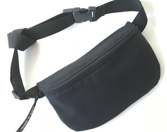 8926ce743496 Waterproof Black Fanny Pack, Black Belly bag, Bum bag, Belly Bag, Vegan  Fanny pack , Utility belt , Hand free, Festival fanny pack , bumbag