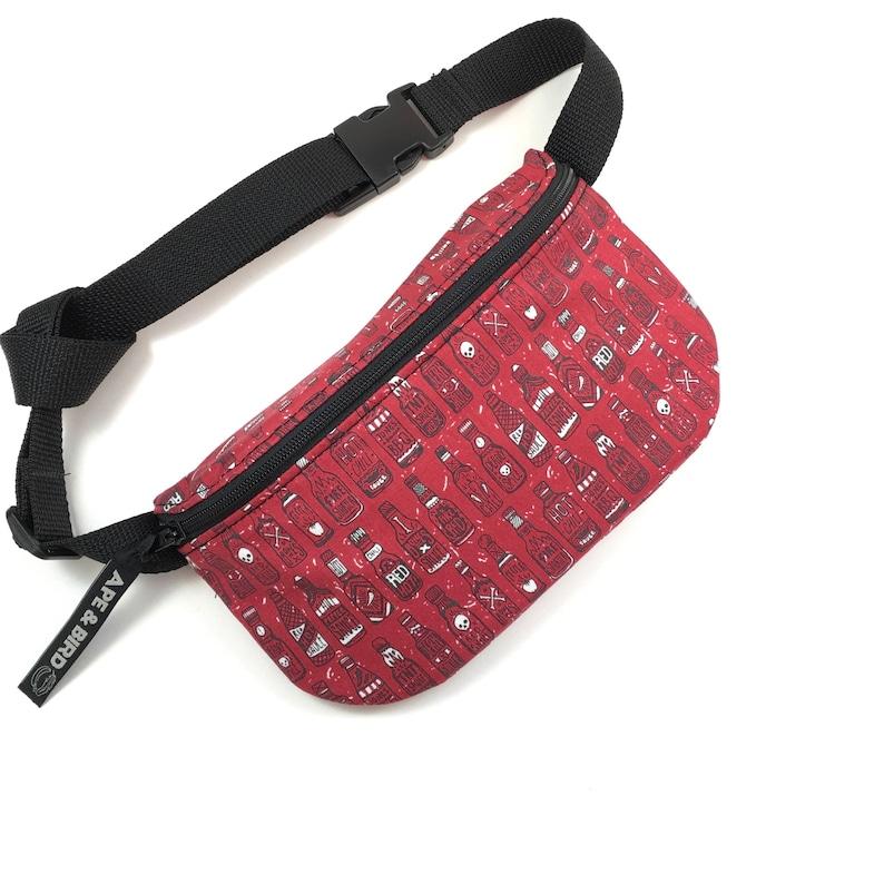 Hot sauce Fanny Pack Handmade festival bum bag hip bag purse gym bag Belt bag Utility belt Vegan Cute fanny pack fanny pack Hip Belt bag