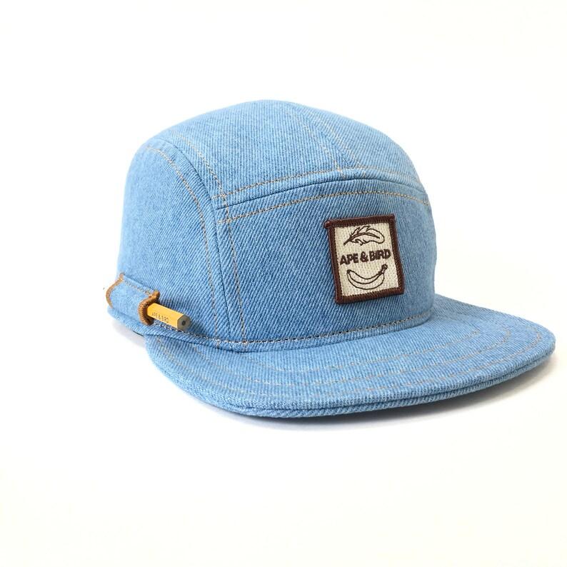5b0e01f1e Handmade 5 panel hat headwear baseball hat trucker denim made in usa mens  hat gifts for him giftsfor boyfriends baseball denim hat