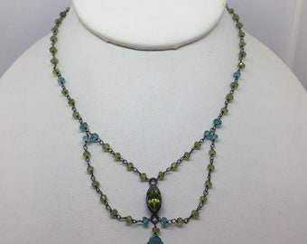 Peridot & Apatite Beaded Necklace