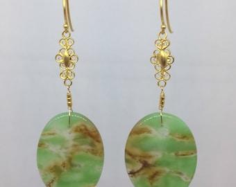 Chrysoprase Drop Earrings