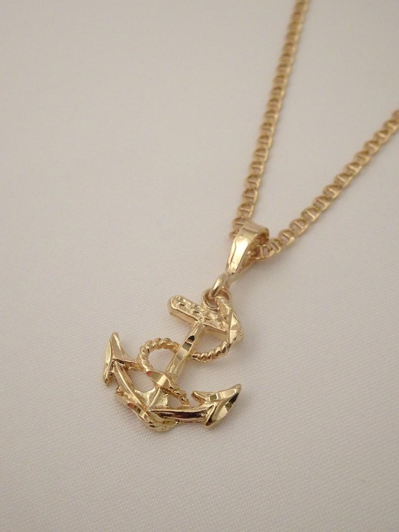 dad2ff6860e97 Gold Anchor Gold Anchor Necklace Anchor Pendant Anchor Charm Gold Anchor  Charm Pendant Necklace Jewelry Gold Anchor Unisex Men Necklace Gold