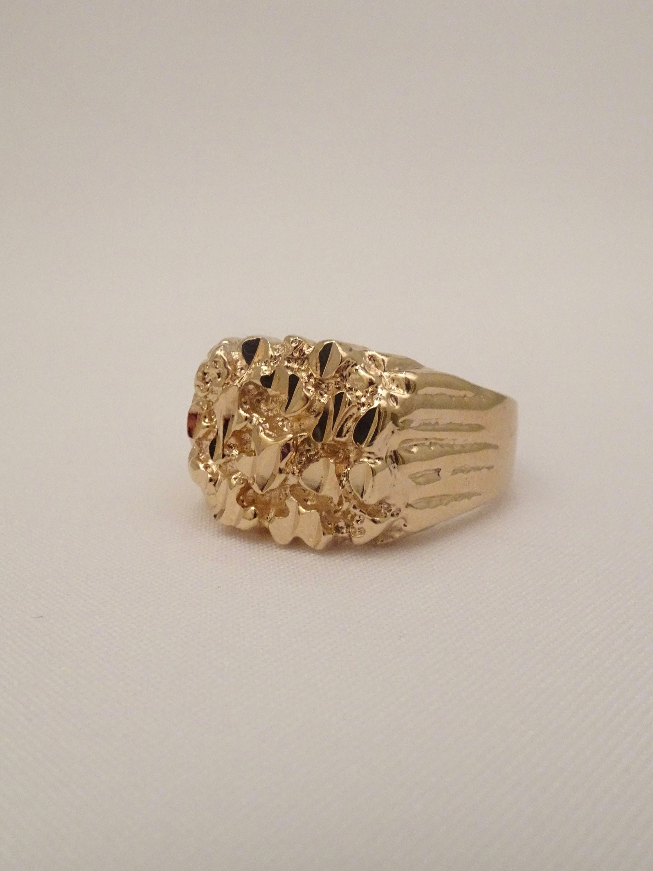 631f4699b65 Or hommes bague or bague homme unisexe or 24 or plaqué pour