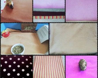 Guinea Pig fleece Cage liners. Made with soft antipill Fleece. With a water resistant under layer. The price is based on size.