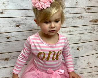 8975f8ef57c15 First Birthday Outfit Girl