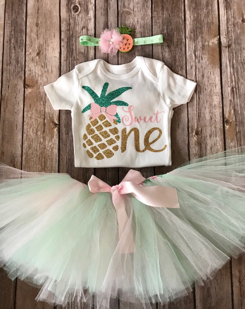 220b2fad0fa1 Luau First Birthday Outfit Girl Pineapple 1st Birthday Outfit