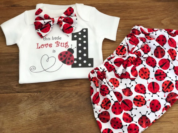 c68bf3ad7 Ladybug Birthday Outfit/Baby Girl 1st Birthday Outift/Silver and Red First  Birthday/Ladybug First Birthday Outfit