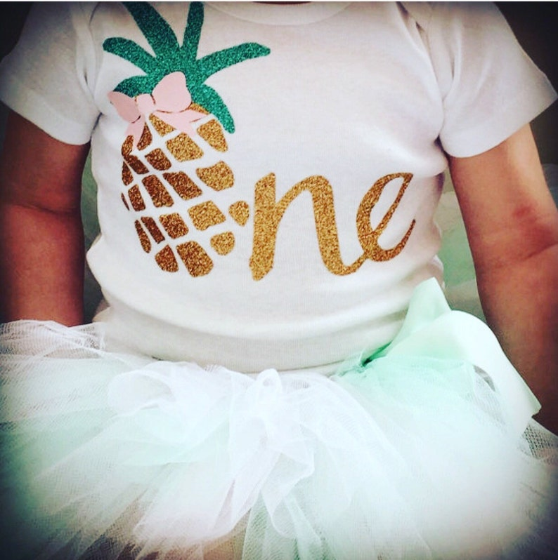 566256da1f87 Luau First Birthday Outfit Girl Pineapple 1st Birthday