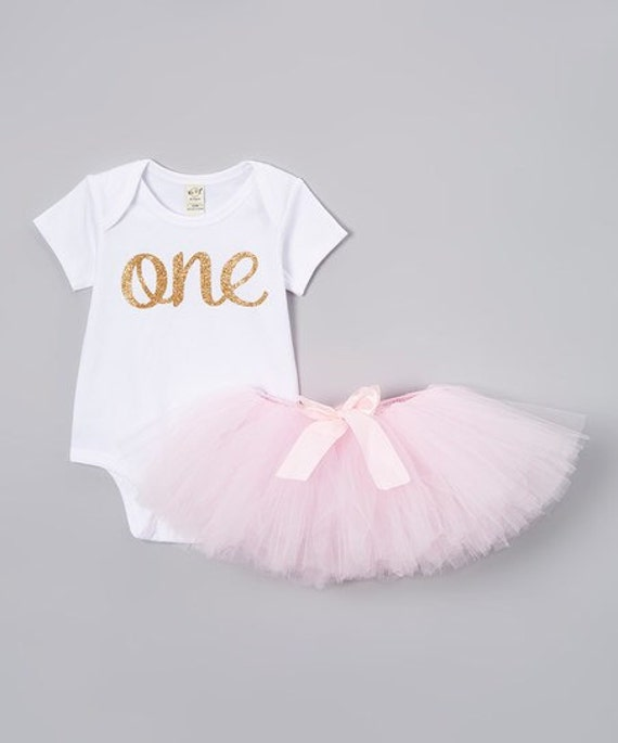 f1475c78179d Baby girls first birthday outfit with knotted headband/Gold