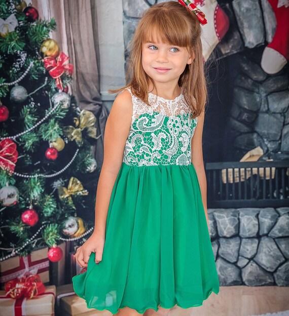 Christmas Dress Girl | Toddler Christmas Dress Girl | Green Christmas Dress  Girl | Christmas Dress Toddler | Christmas Outfit Girl - Christmas Dress Girl Toddler Christmas Dress Girl Green Etsy