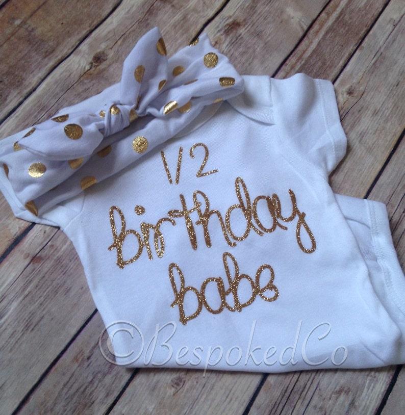 12 Birthday OutfitPink and Gold half birthdayHalf Birthday Babe shirt