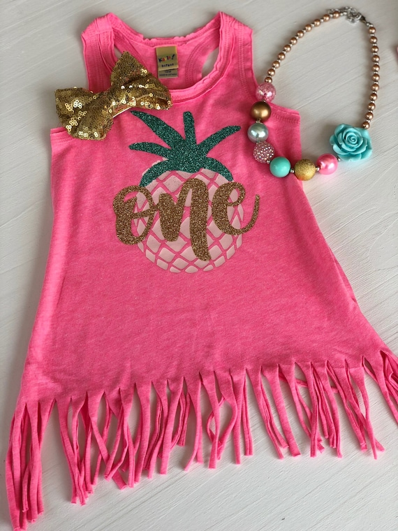 1313ffbbcb73 Baby Luau First Birthday Outfit Pineapple 1st Birthday