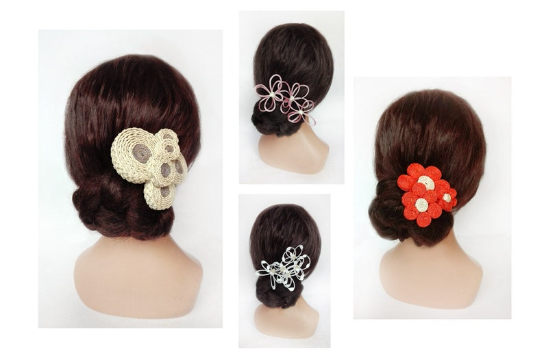 Pique bride hair hair pin flower ceremony small wedding hat image 0