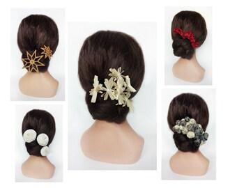 Pinningle hair bride, accessory hair star engagement, clamp hair wedding, peak bun ceremony