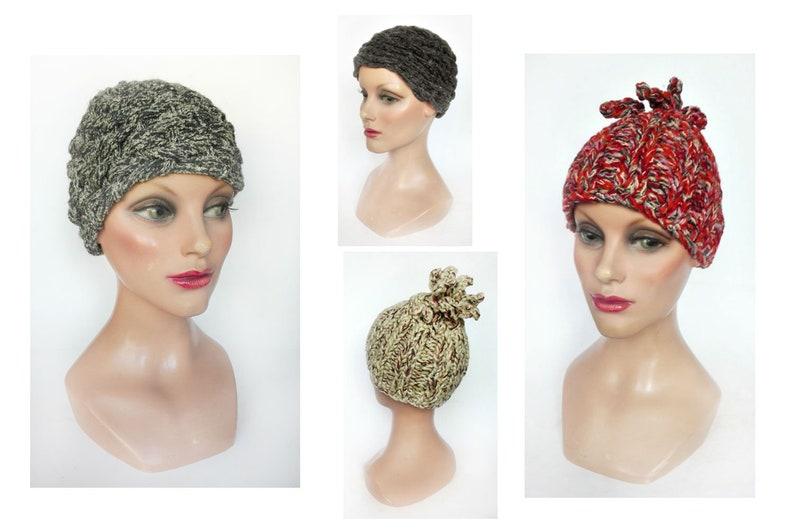 Women's unique piece cap minimalist wool beanie image 0