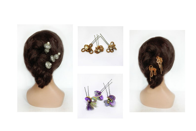 Jewelry New Year's Christmas 2020 hair gold wedding hair image 0