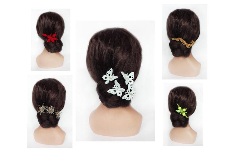 Bride hairpin felt butterfly fascinator wedding kanzashi image 0
