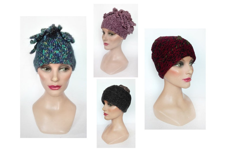 Minimalist retro woman hat turban wool vintage Hat winter image 0