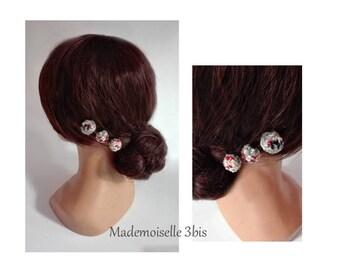 hairclips minimalist wool, ceremony, wedding hair comb women Hat pin