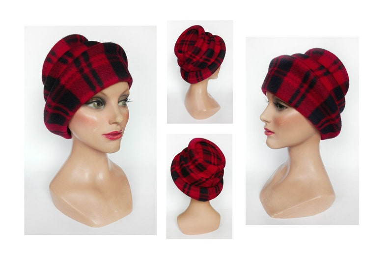 Winter red woman toque woman hat winter fascinator polar Red