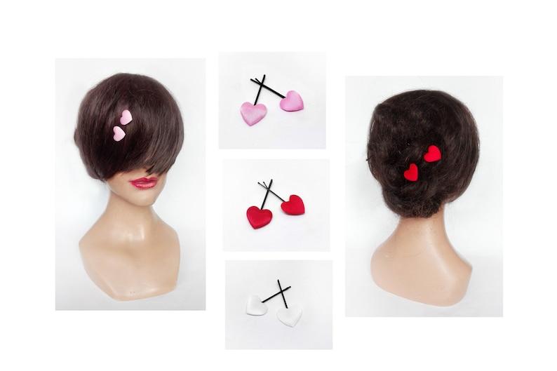 Satin heart bar communion hair accessories wedding hair image 0