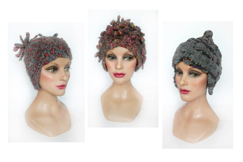 Iroquois shapes ear Hat wool Aviator beanie women manga image 0
