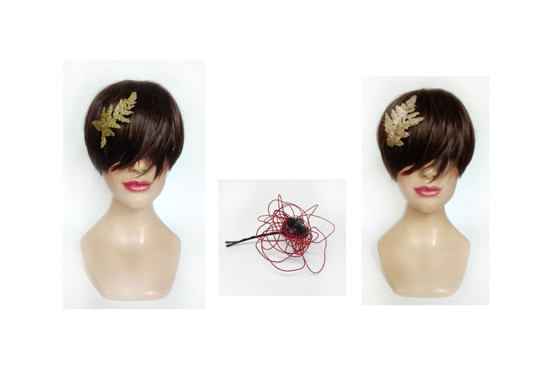 New Year's Hair Pinch 2020 rose gold hair jewelry image 0