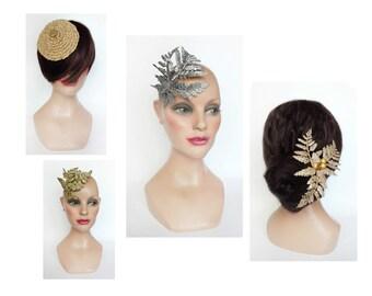 Small hat woman evening, jewelry hair, bibi wedding, bar hair married