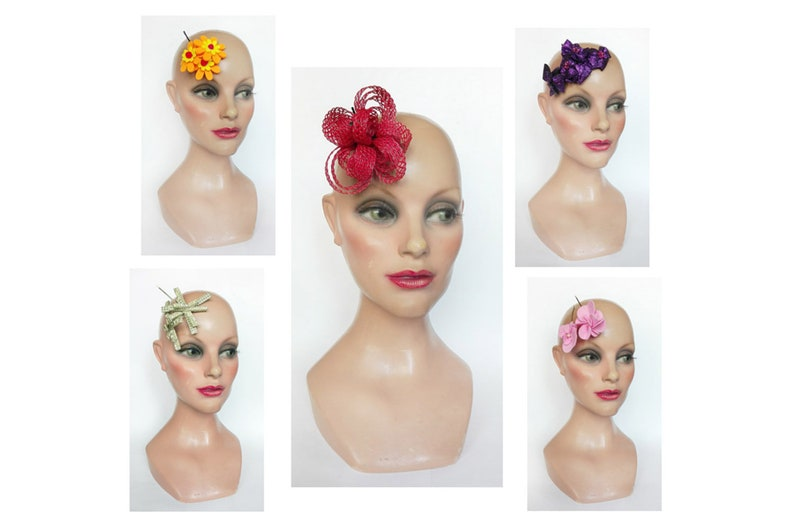 Small fascinator for wedding ceremonial child bar flamenco image 0