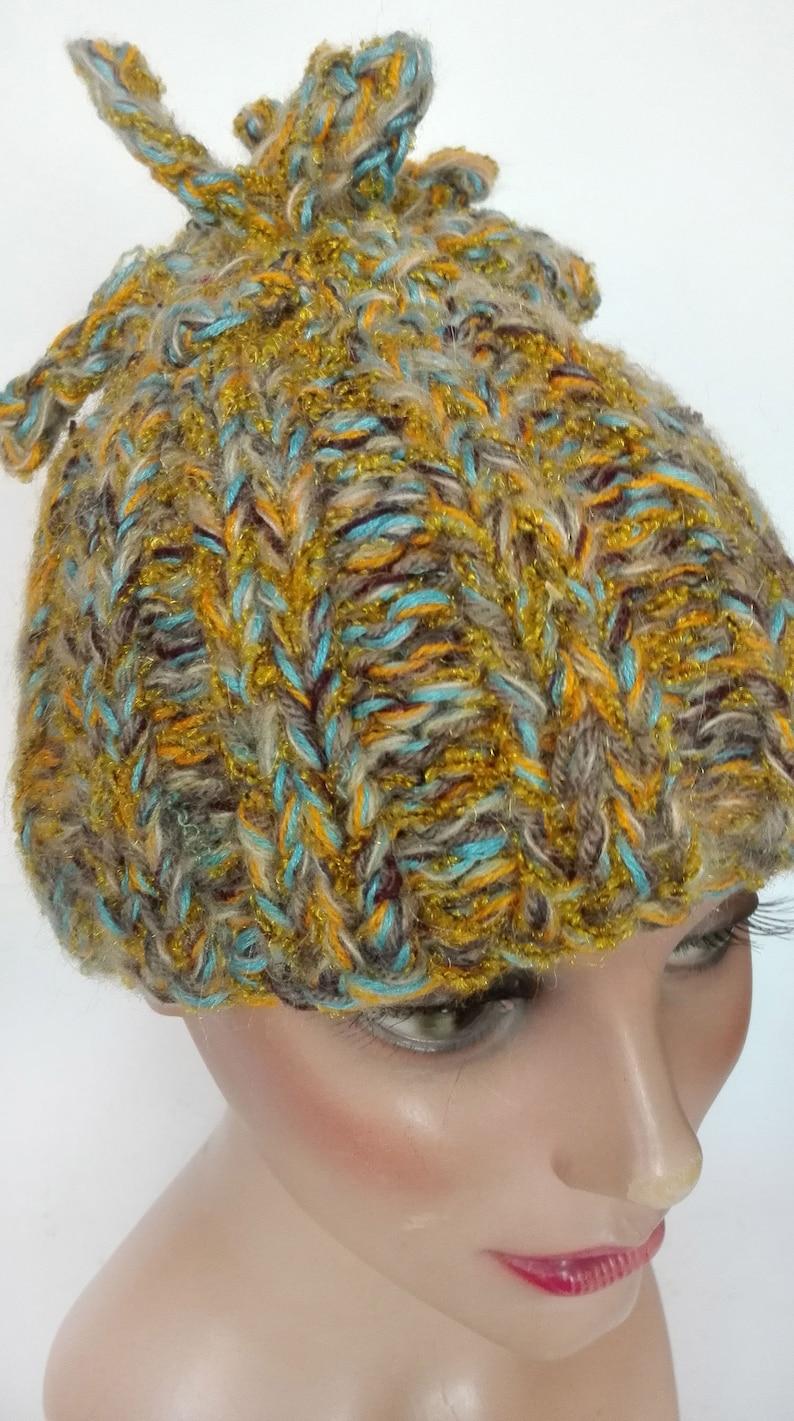 boho cap minimalist pompom beanie ski accessories winter woman hat Women/'s hat wool dreadlocks unique piece gift
