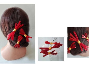 red hair, wedding, ceremony, minimalist hair fascinator Hat pin jewelry