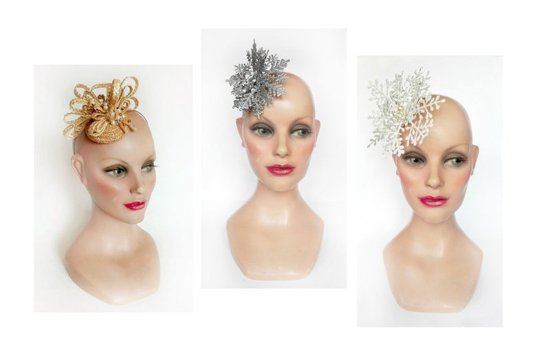 Fascinator star bride 2020 Christmas New Year's Eve image 0