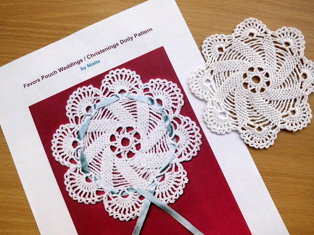 Crochet Pattern Pdf Wedding Favor Pouch Digital Instant Etsy
