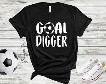 29a7e1969 Goal Digger Soccer Ball Unisex Triblend Bella Canvas T-shirt