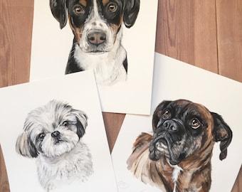 Custom DOG PORTRAIT, dog ,pet painting, dog painting, custom pet painting, custom pet portrait, dog portrait artist, dog cat watercolor,