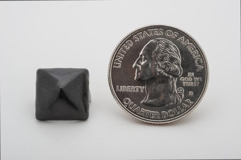StudsAndSpikes Denim and LeatherCraft Bag of 100 Standard 12 Black Pyramid Studs for Punk Vintage Clothing